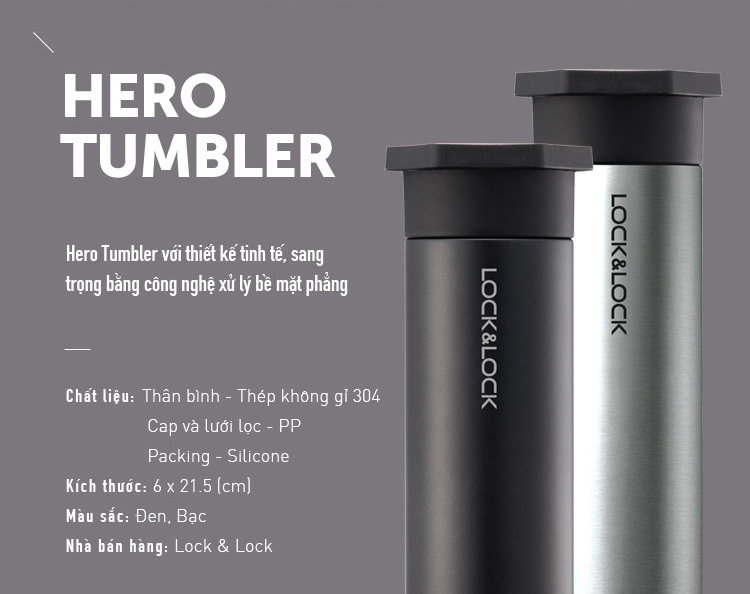 lock and lock hero tumbler
