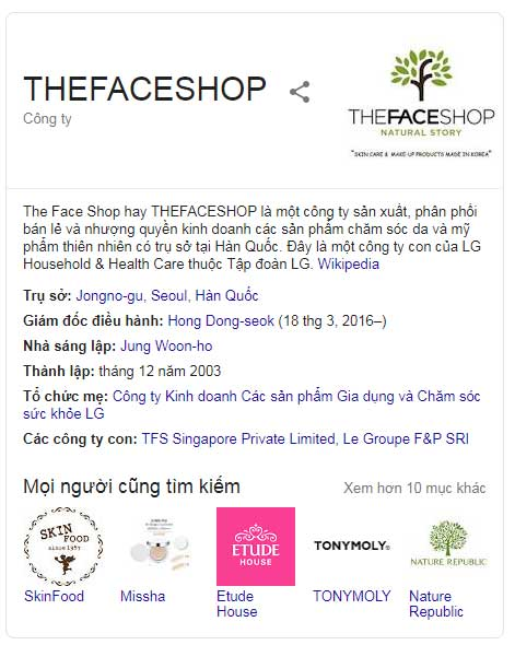 the face shop hàn quốc