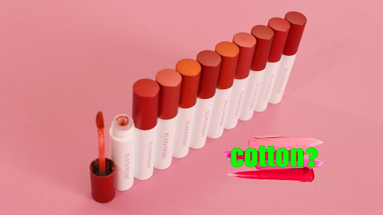 REVIEW SWATCH SON BÔNG GÒN ♡ Black Rouge Cotton Lip Color