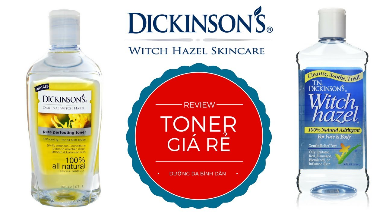 TONER GIÁ RẺ | REVIEW DICKINSON'S TONER | Skintalk #5